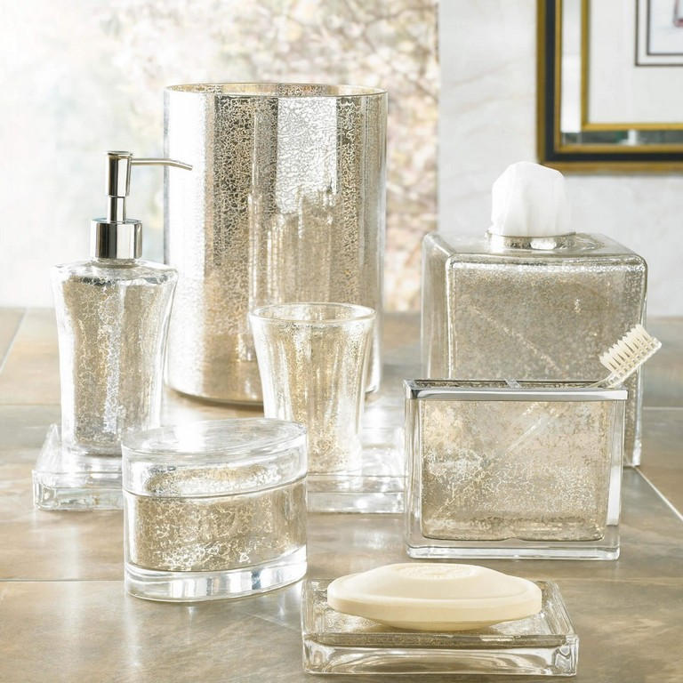 Mercury Glass Bathroom Accessories