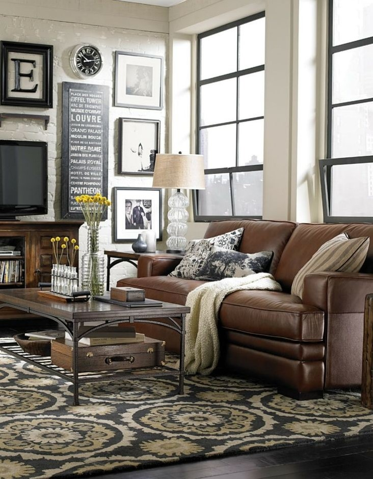 Pictures Of Living Rooms With Brown Leather Furniture