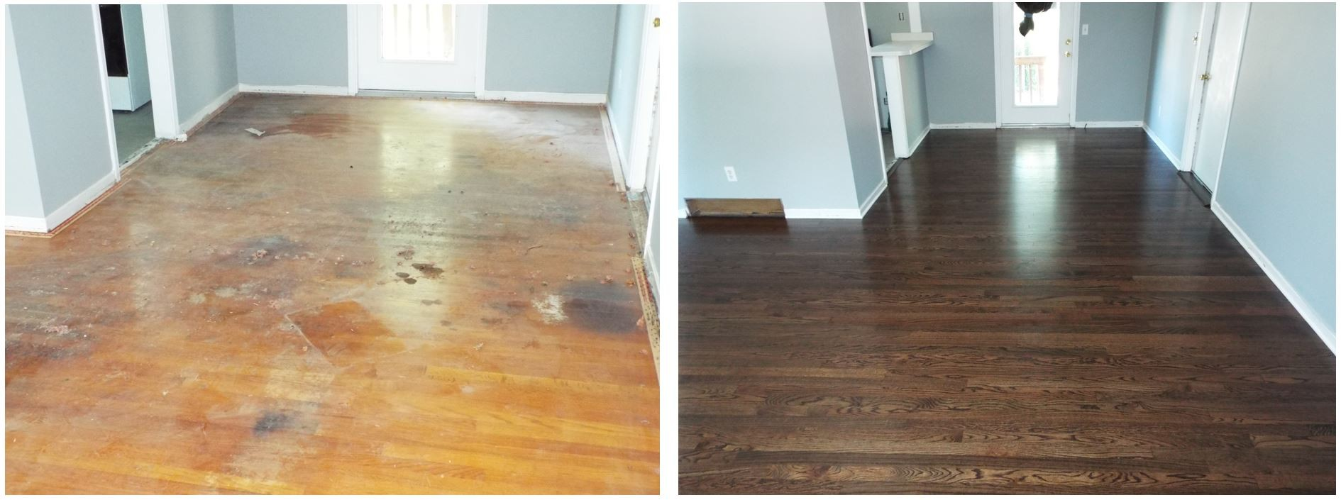Refinished Hardwood Floors Before And After