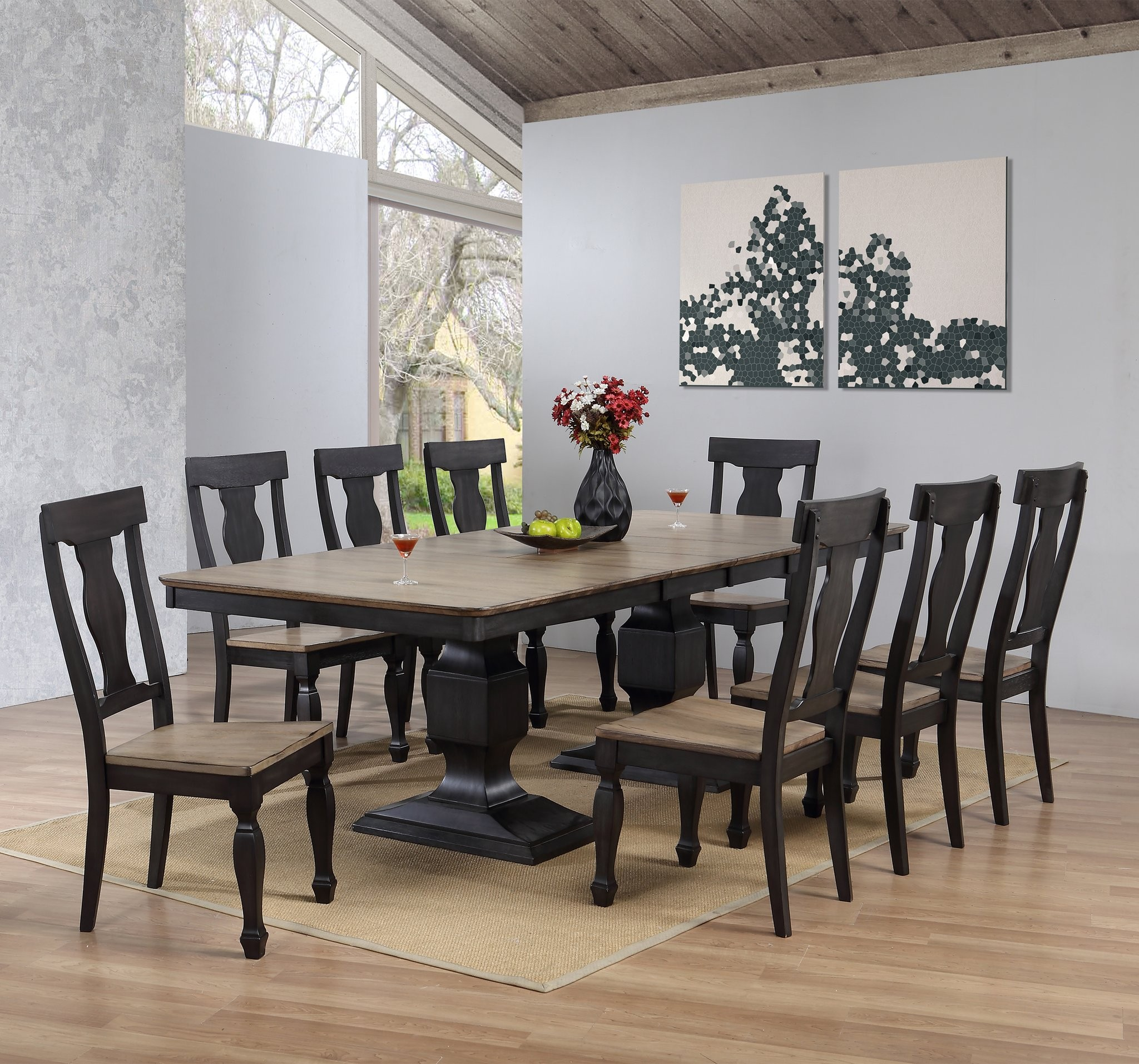 Round Dining Set With Leaf: Round Dining Table Set With Leaf Extension
