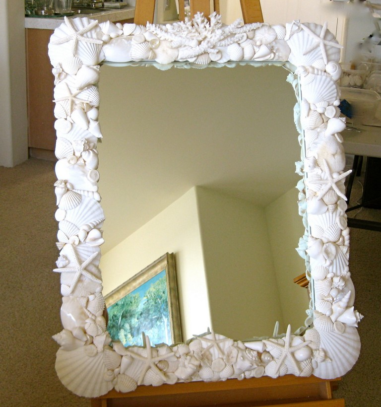 Seashell Mirrors For Bathroom Top Home Information