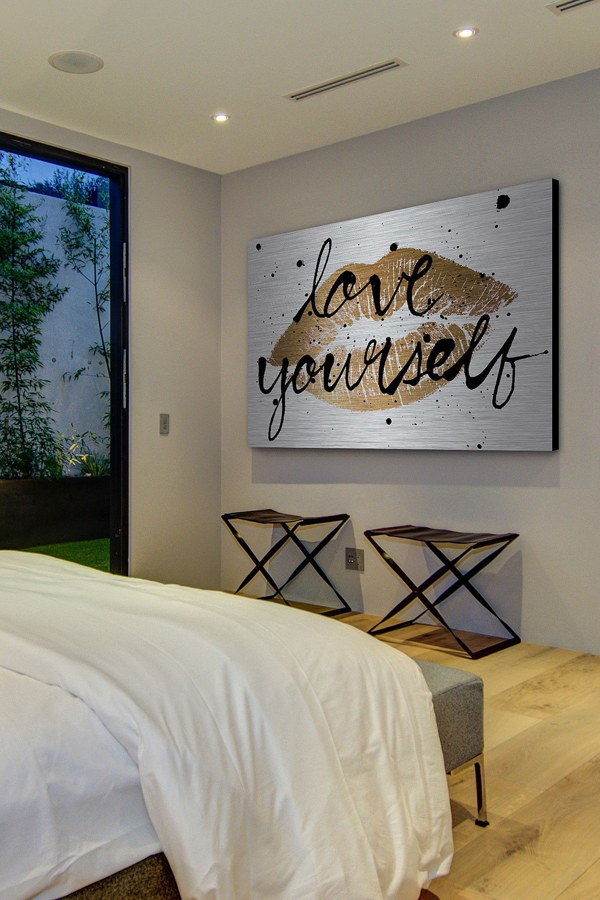 Blue And Gold Wall Art