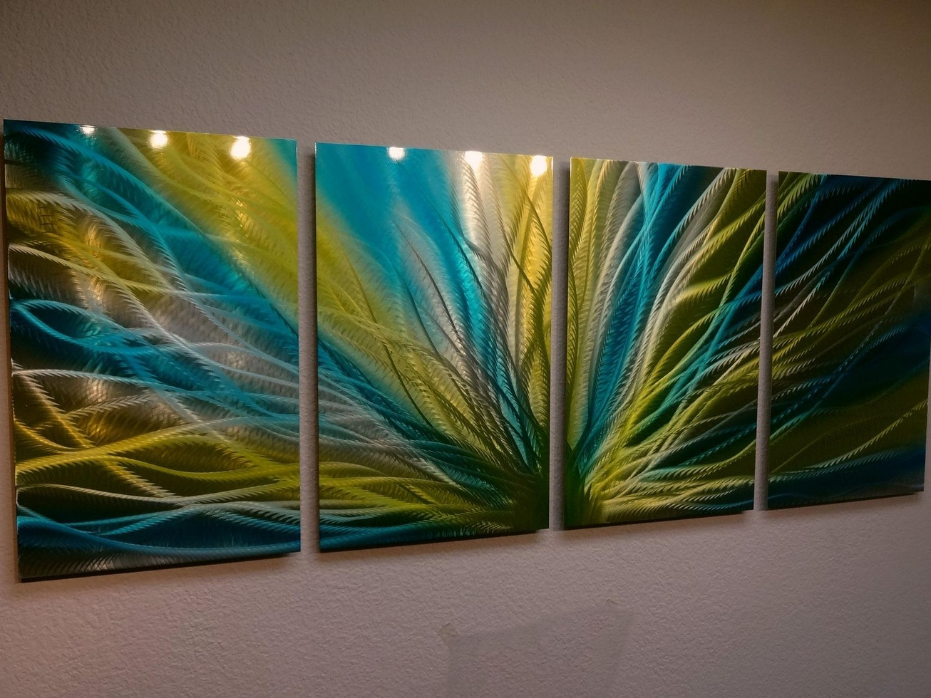 Blue And Yellow Wall Art