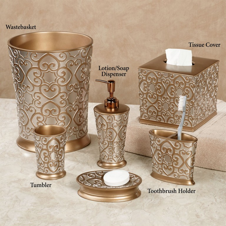Gold Bathroom Accessory Sets Top Home Information