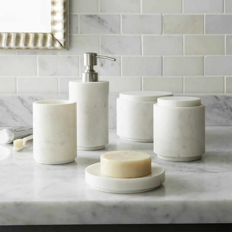 Marble Bathroom Accessory Sets
