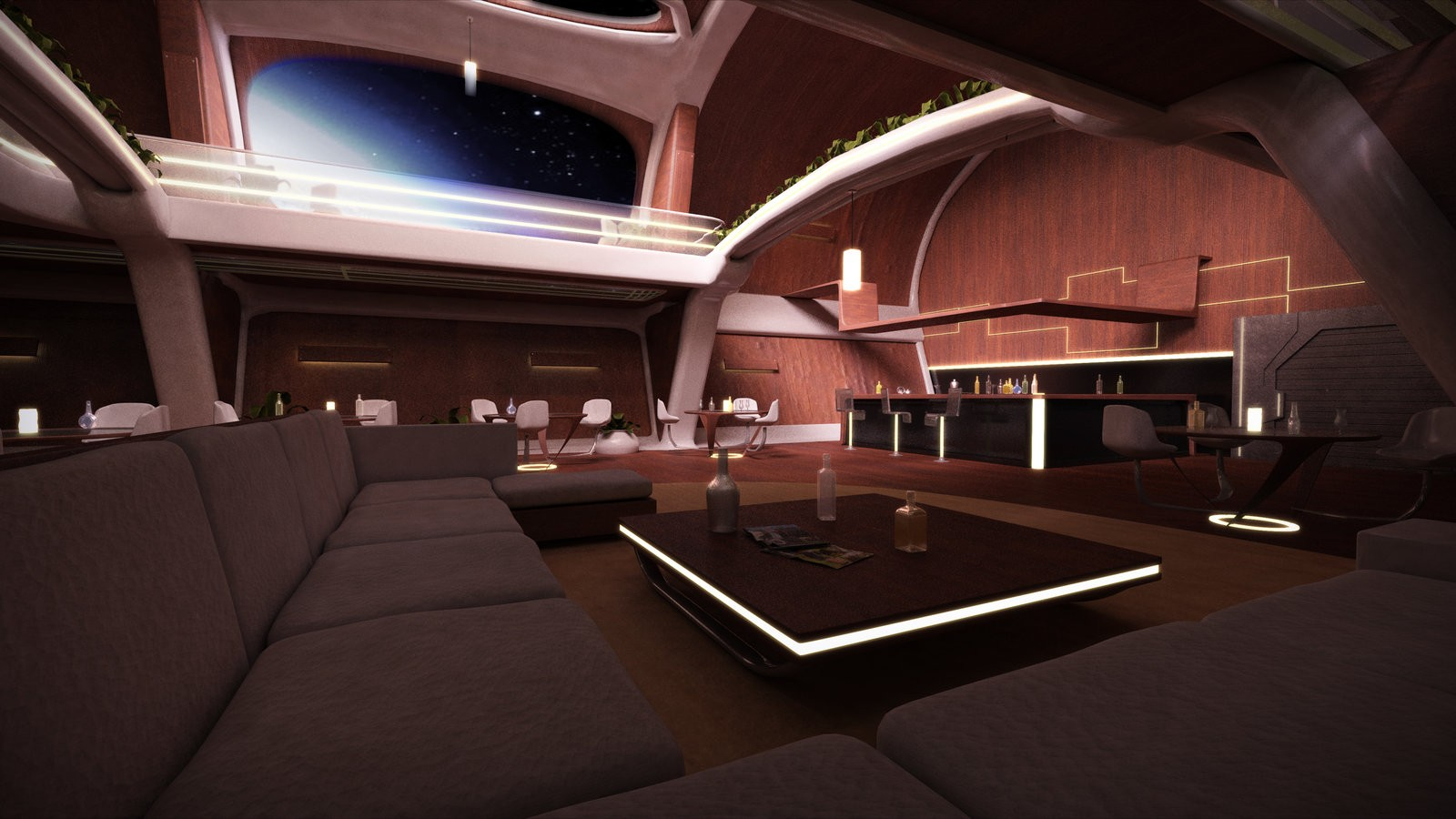 Spaceship Interior Design