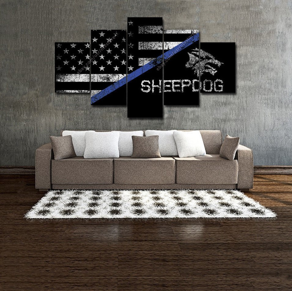Thin Blue Line Wall Art