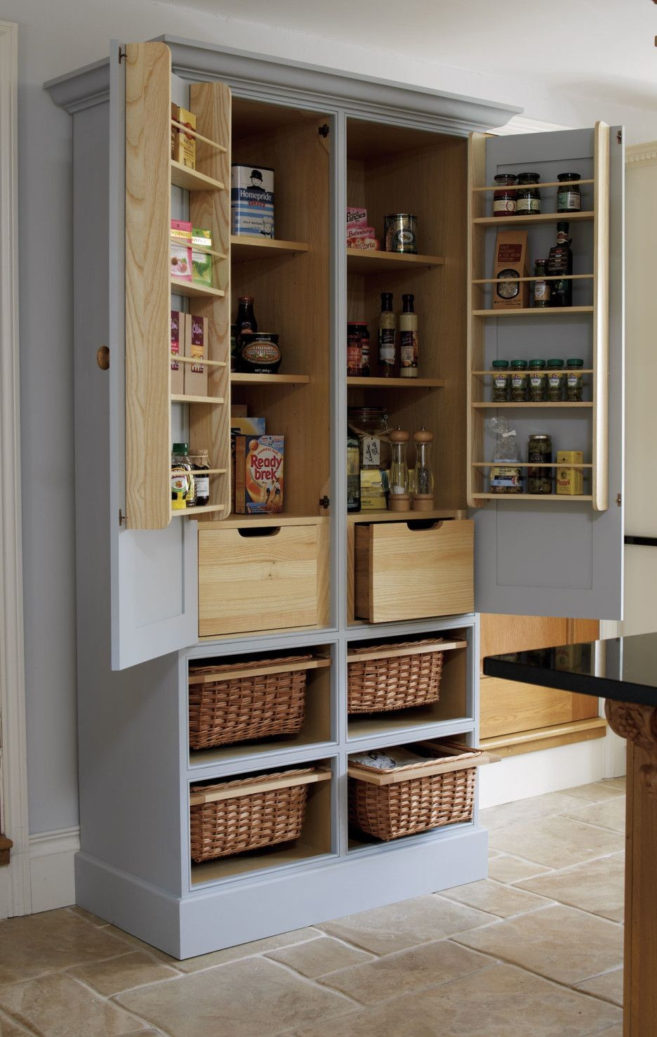 Wooden Kitchen Pantry Cabinet